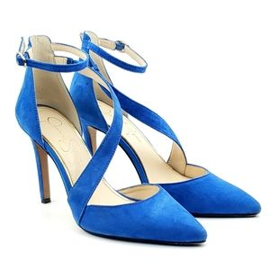 Jessica Simpson Castana suede ankle strap heels